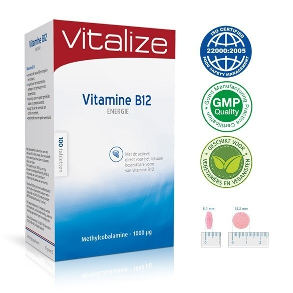 Vitamine B12 Smelttabletten 1000 mcg
